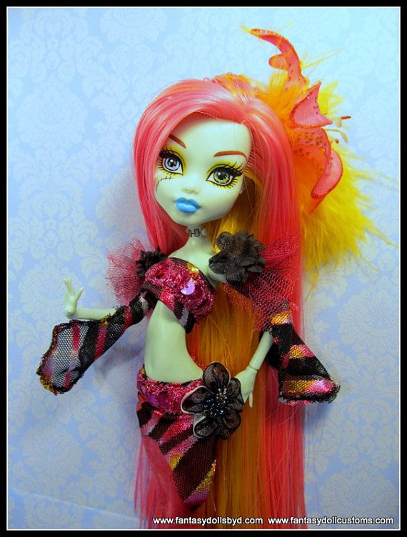 Monster Style Mermaid Doll Clothes High Fashion by Fantasydolls