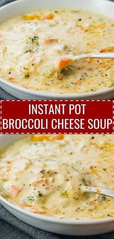 This Instant Pot Broccoli Cheese Soup is one of my favorite vegetarian instapot …