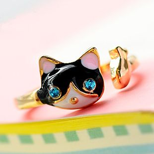 041 Cat ring [share82] - $7.90 : Fashion jewelry promotion store,Supply all kinds of cheap fashion jewelry
