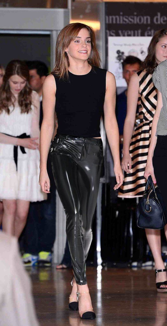 Emma Watsonin PVC at Paris Student Fashion Show - Emma Watson Style
