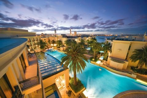 Lagoon style pool at Palazzo Versace on the Gold Coast