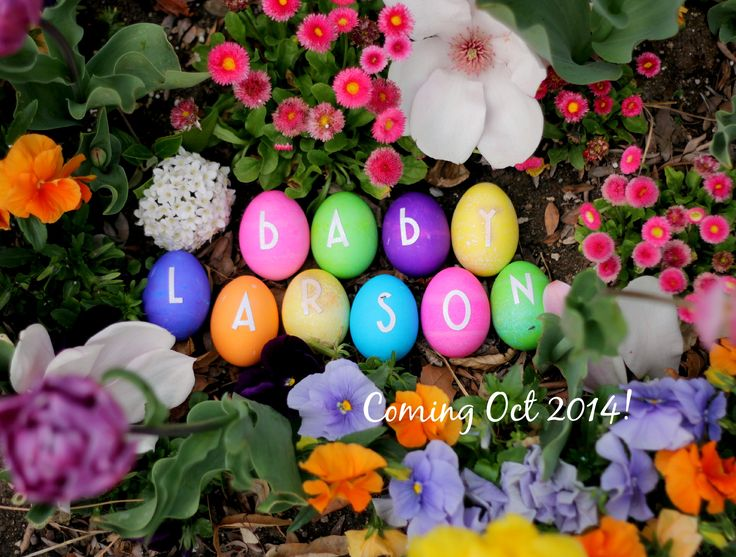 Our Easter egg pregnancy announcement!