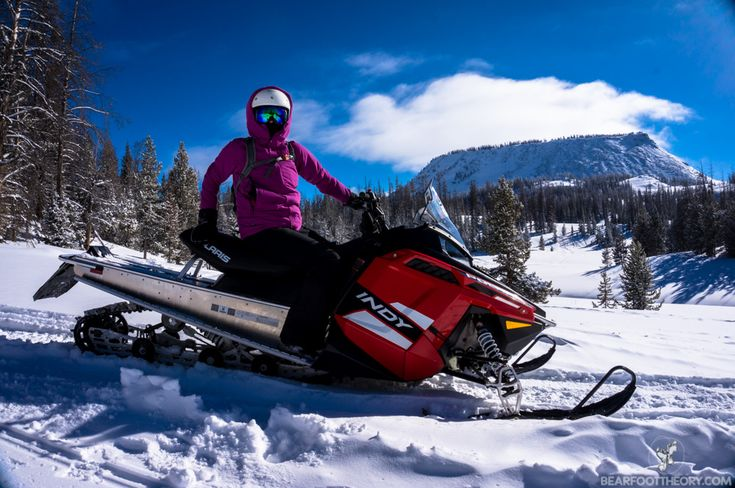 Snowmobiling at Togwotee Mountain Lodge near Jackson, Wyoming