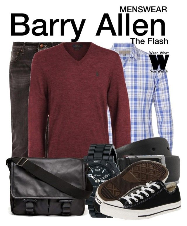 """The Flash"" by wearwhatyouwatch ❤ liked on Polyvore featuring Jacob Cohn, Witchery, Ralph Lauren, Anderson's Belts, Sprout, Converse, Givenchy, television and wearwhatyouwatch"