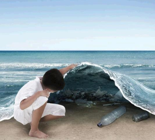 The pollution of the seas is terrible and is born from people being lazy... such a shame