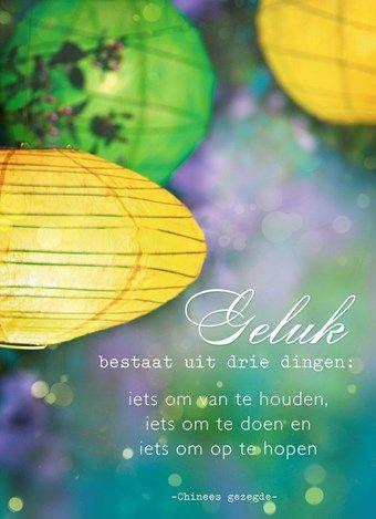 Geluk bestaat uit drie dingen... #Hallmark #HallmarkNL #wenskaart #quote