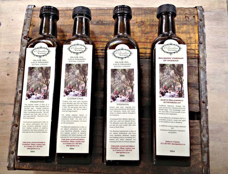 IL Giardino's award winning olive oil!