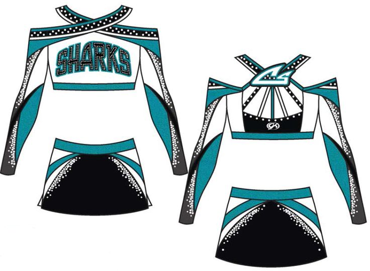 2014 Custom GK Cheer Uniform for Cheer Sport Sharks