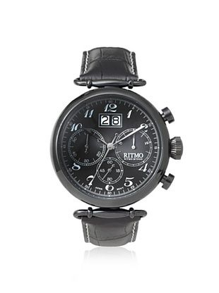 -39,800% OFF Ritmo Mundo Men's 701/6 Black Corinthian Stainless Steel Watch