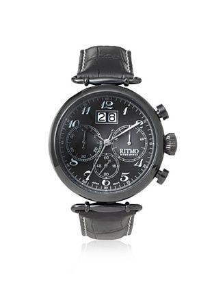 -39,800% OFF Ritmo Mundo Men's 701/6 Black Corinthian Stainless Steel Watch