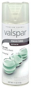 Valspar Glass Frosting Spray Paint, 11 Ounces - housekeeping - Lowe's