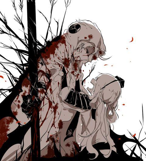 このペアあまりにも好きなので、友人の小白々ちゃん(http://www.pixiv.net/member.php?id=2579204)とともにストーリーを考えました、妄想だけど悲しい場面ばっかり、主