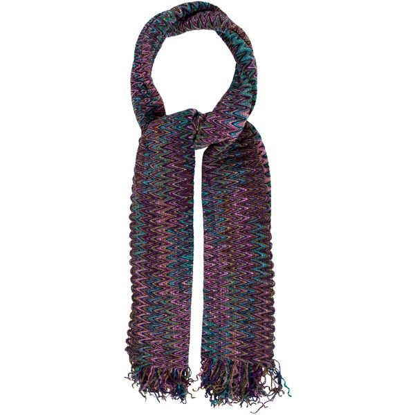 Pre-owned Missoni Chevron Fringe-Trimmed Scarf (1,675 EGP) ❤ liked on Polyvore featuring accessories, scarves, purple, fringe shawl, missoni shawl, purple shawl, chevron scarves and multi colored scarves
