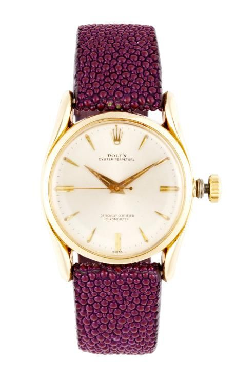 Vintage Rolex 14K Yellow Gold Oyster Perpetual Bubble-Back Watch by CMT Fine Watch and Jewelry Advisors for Preorder on Moda Operandi