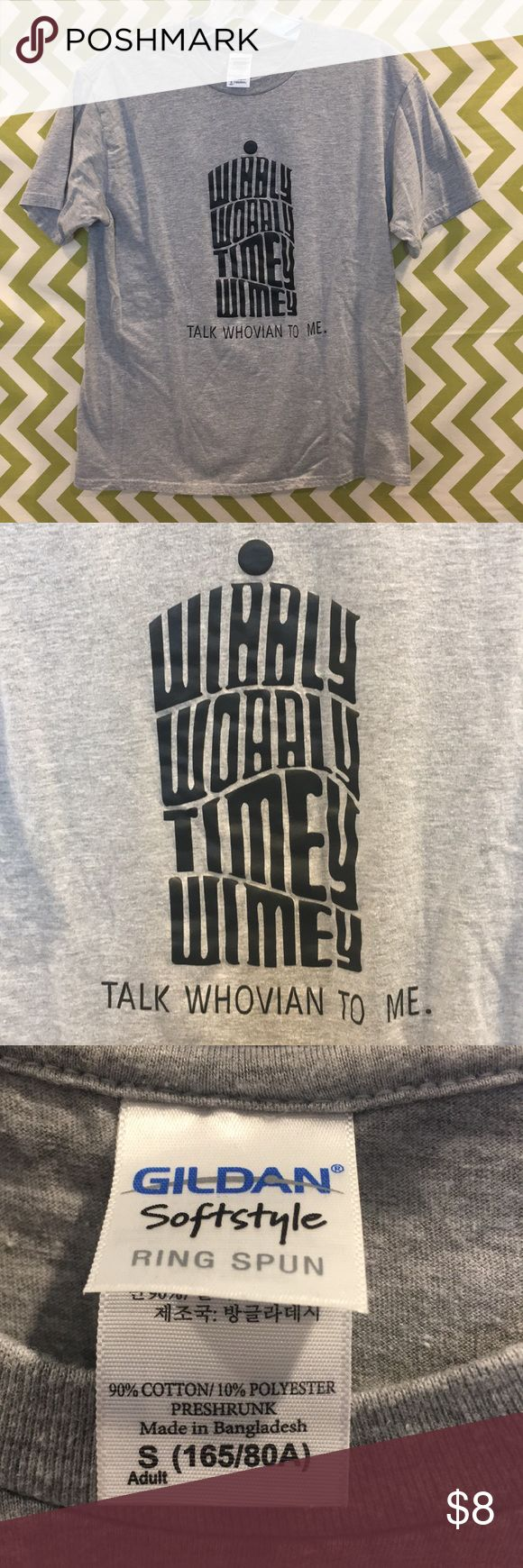 Doctor Who T-Shirt Doctor Who T-Shirt Wibbly wobbly timey wimey Size small Excellent condition Doctor Who Tops Tees - Short Sleeve