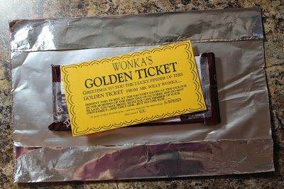 Links to free golden ticket printable AND wonka bar wrapper
