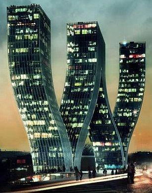 This building is located in Prague, Czech Republic. Designed by Danish architects Bjarke Ingels Group's, the Walter Towers look stunning. Would the elevator be straight or a ride with it turns into a terrifying experience?