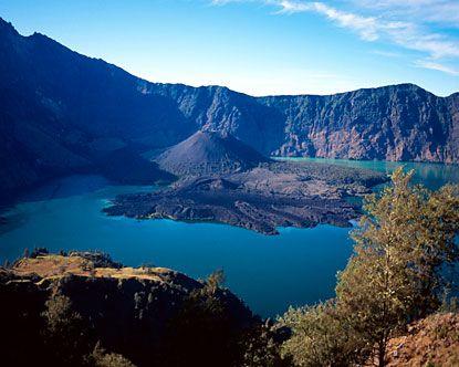 Segara anak lake. Lombok