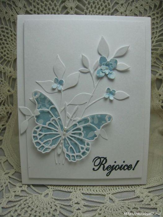 Отправить сайт, открытка своими руками с бабочками и цветами