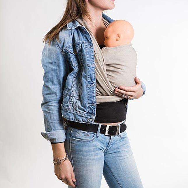 Neobulle - Fascia Porta Bebè Lunga Rigida Beige Sabbia. Con la fascia porta bebè Neobulle puoi portare il tuo bambino dalla nascita ai 15 Kg (approssimativamente 3 o 4 anni di età). Confezionata con 100% cotone Oekotex certificato esente da residui chimici e sostanze nocive. Con la stessa fascia è possibile portare il bambino in molti modi, grazie alla possibilità di fare molte legature differenti