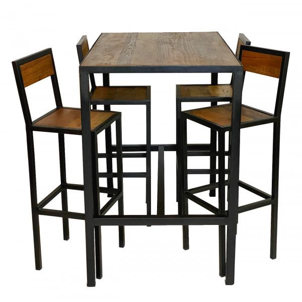 table haute bois chaise haute bar