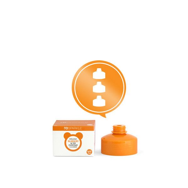 reSPARKLE Organic Nursery & Toy Everyday Cleaner Refill Pods X 3 $13.80 100% Natural concentrate to replenish your 500ml bottle of Organic Nursery & Toy Everyday Cleaner. Simply fill your bottle to water mark, twist on refill to automatically release concentrate into bottle.  NON TOXIC FAMILY & PET SAFE ANTI-BACTERIAL TOUCH ON DIRT & STAINS
