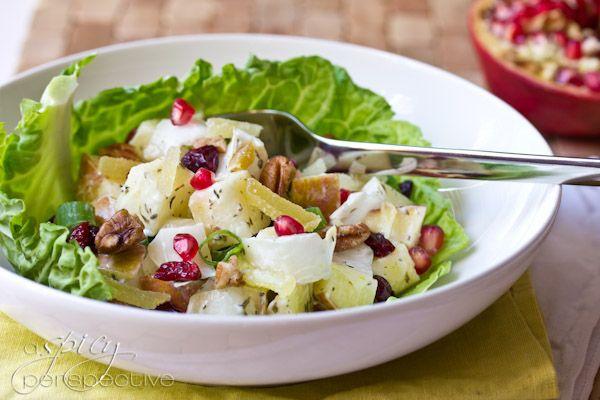 Holiday Waldorf Salad via @spicyperspectiv