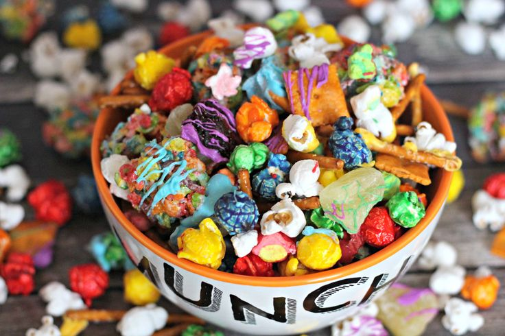 Sweet and Salty Rainbow Snack Mix
