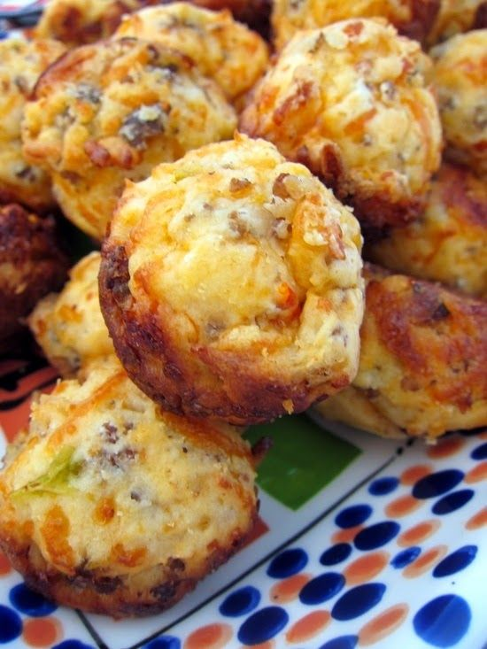 Sausage & Cheese Muffins - They're easy to make and have a soft, fluffy texture bursting with flavor. The turkey sausage is surprisingly flavorful..