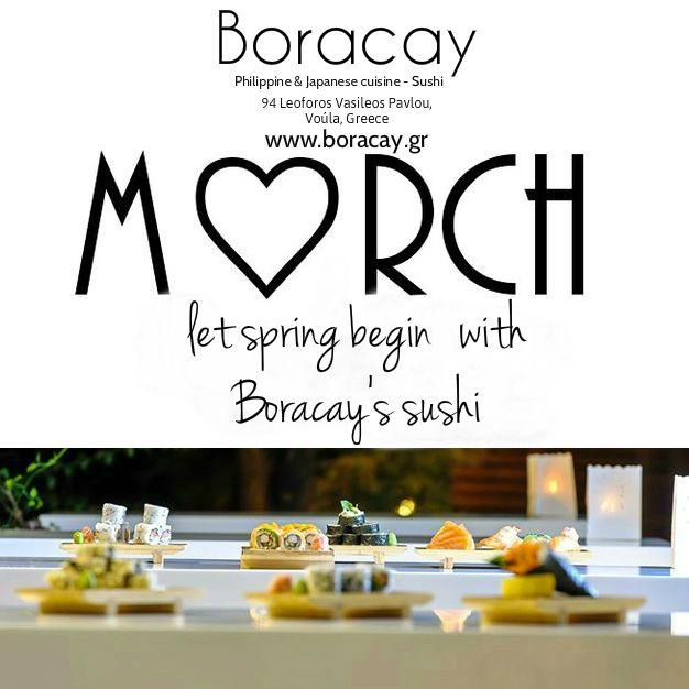 Let spring begin with Boracay's sushi! Have a nice month everyone :) #helloMarch #March #spring #firstday #love #happy #sushi #sushilovers #sushiporn #sushi_experts #ilovegreece #greece #followme #food #athens #voula #glyfada #vouliagmeni #foodporn #nofilter #photooftheday #reasonstovisitgreece #boracaygr #Boracay #travel #likes4likes  #follow4follow #comment #join_us