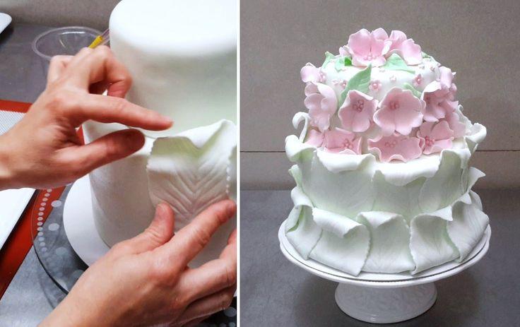 Simple Fondant Cake Decorating. Tutorial by CakesStepbyStep.