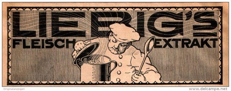 Original-Werbung/ Anzeige 1911 - LIEBIG'S FLEISCH - EXTRAKT - ca. 190 X 70 mm