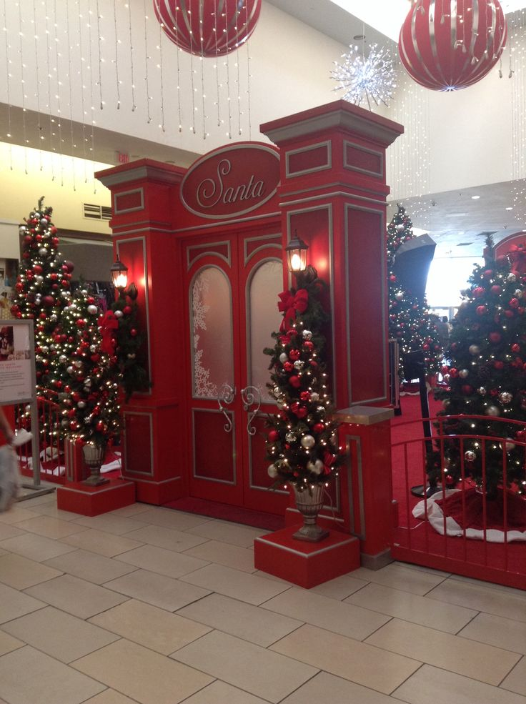 A Christmas decoration at the mall.