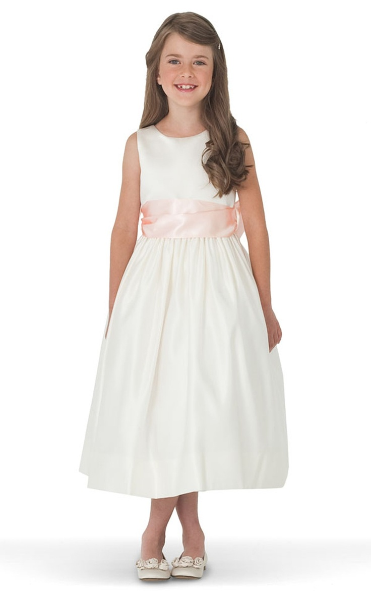 39 best bridesmaid and flower girl dresses images on pinterest us angels ivory satin tank dress toddler little girls big girls available at flower girl or junior bridesmaid with black sash ombrellifo Gallery