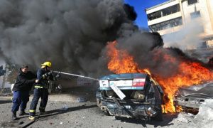 A large explosion near an Iranian cultural centre in the southern suburbs of Beirut has killed at least four people and wounded 19. The explosion in Lebanon's capital appeared to have been caused by a car bomb and a motorcycle laden with explosives. Abdullah Azzam Brigades, a group linked to al-Qaida, claimed responsibility for the attack on […]