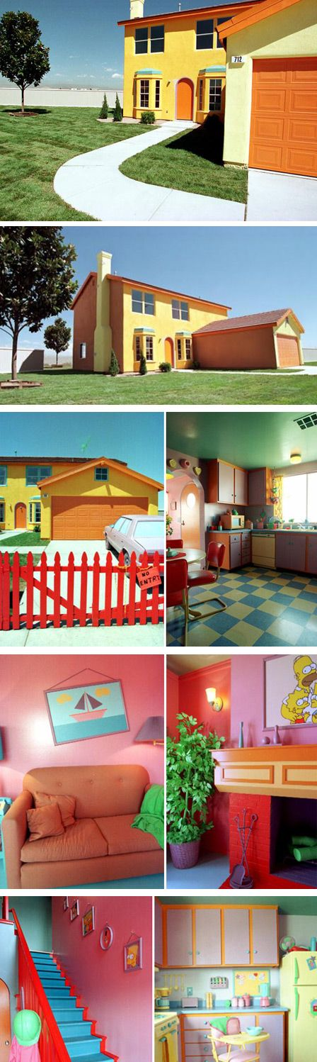Wow, the Simpsons House! This exact replica of The Simpsons' House was made by a fanatic, and it looks exactly like the one in the cartoon inside and out. It is located in Henderson, Nevada.......