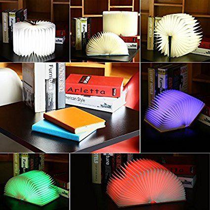Schön ILifeSmart Folding Buch LED Lampe Nachtlicht USB Aufladbare Bunte Für Haus,  Dekoration: Amazon.