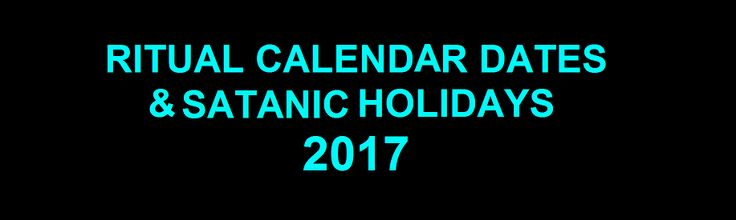 Calendar of 2017 Ritual Dates  Note: Additional information on the following holidays is available at: Halloween Yule/Winter Solstice Candlemas Valentine's Day Spring Equinox Beltane Summer Solsti…