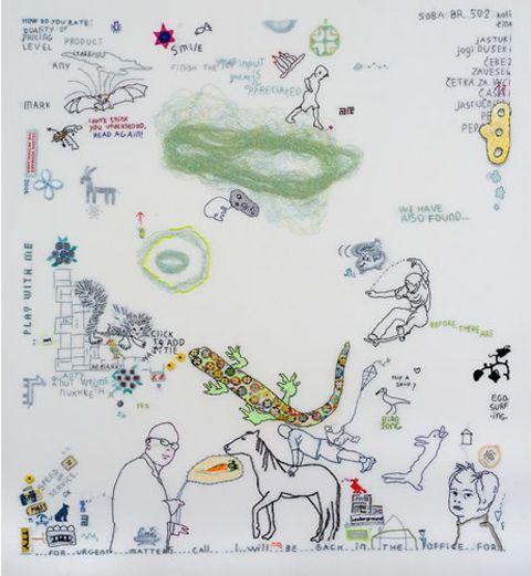 Tilleke Schwarz - hand embroidery