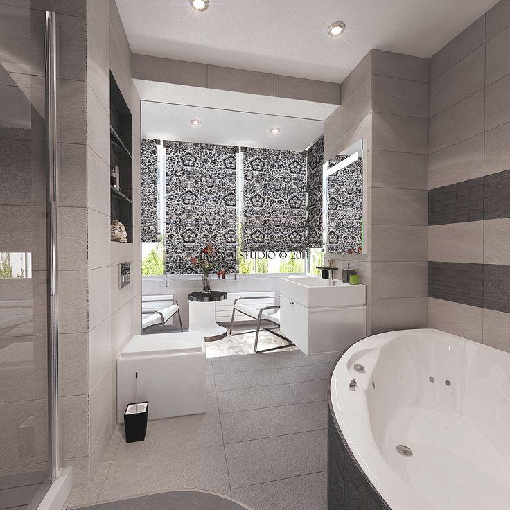 """Дизайн-интерьера в Казани. Проект """"50 оттенков серого"""". Ванная комната. #roomstudiokazan #designinterior #bathroom"""