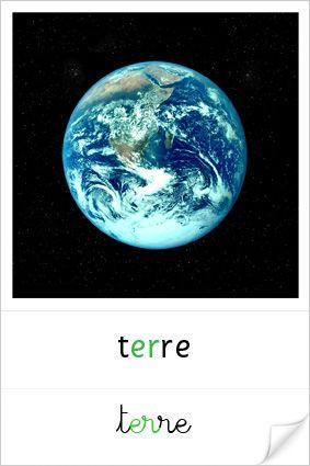 très belles cartes planètes pour un coin astronomie Montessori