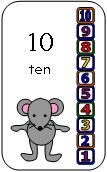 Number Sequence Cards for the book Mouse's First Day of School from Making Learning Fun.