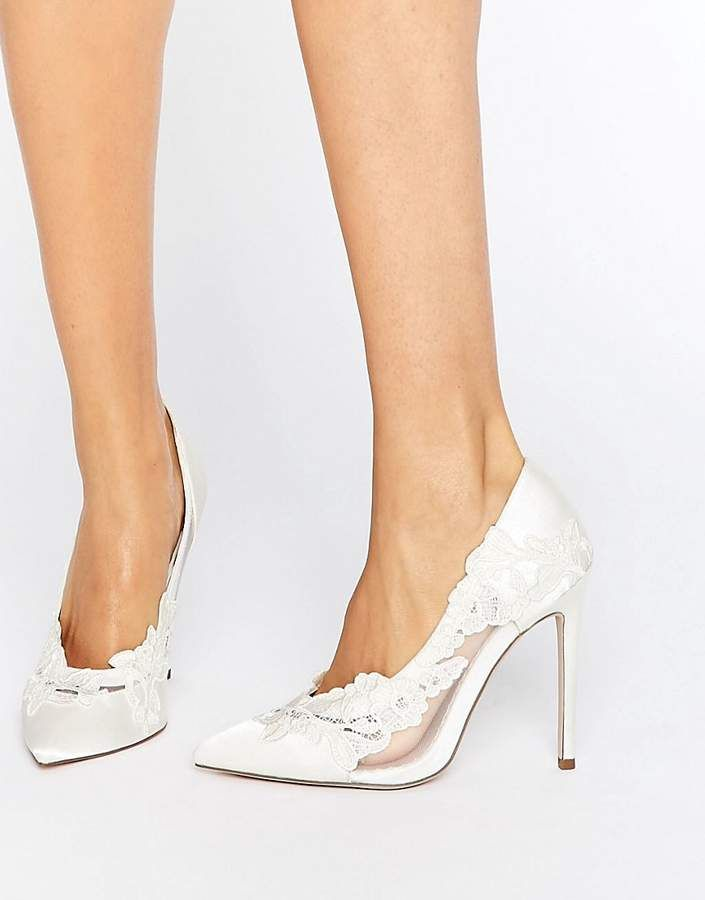 7920c907fa8 Wedding shoes - ASOS PURE Bridal Pointed Lace Heels