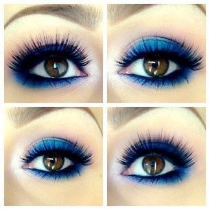 blue eye makeup for brown eyes try?