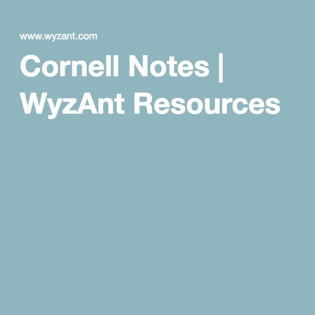 The 25+ best Cornell notes pdf ideas on Pinterest Cornell image - note taking template word
