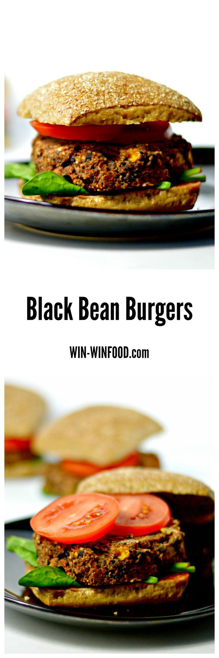 Black Bean Burgers | WIN-WINFOOD.com Crispy and slightly golden on the outside, chewy on the inside with the perfect blend of spiciness, smokiness and sweetness. #vegan #healthy #cleaneating #glutenfree option #soyfree