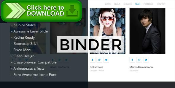 [ThemeForest]Free nulled download Binder - Corporate HTML5 Template from http://zippyfile.download/f.php?id=3842 Tags: agency, business, clean, corporate, creative, flat, layer slider, modern, multipurpose, one page, parallax, photography, portfolio, single site