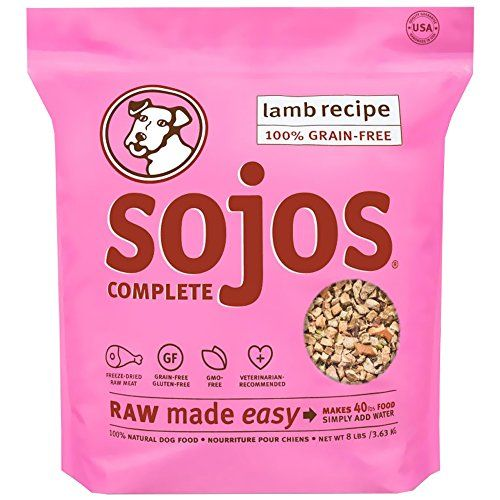 Sojos Complete Natural Grain-Free Dry Raw Freeze Dried Dog Food Mix, Lamb, 8-Pound Bag - A wholesome GRAIN-FREE and GLUTEN-FREE dog food that you simply combine with water to create your own fresh, homemade dog food. A wholesome GRAIN-FREE and GLUTEN-FREE dog food that you simply combine with water to create your own fresh, homemade dog food. 1 pound rehydrates to 4 lbs. of fresh, ra...