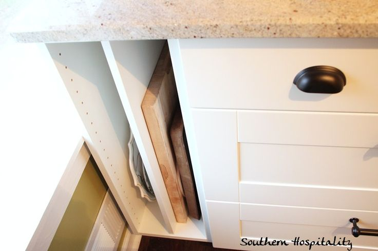 Ikea Kitchen Renovation Cost breakdown | Southern Hospitality - baking sheet and cutting board storage