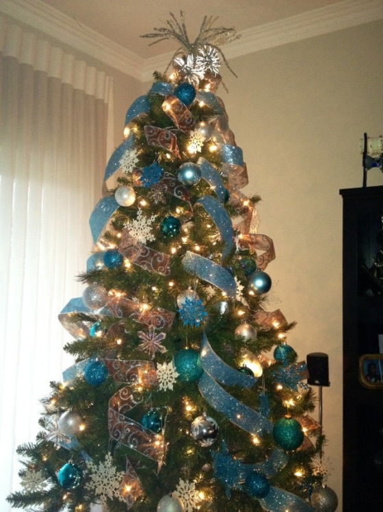 Christmas Tree Decorating With Ribbon Ideas : Best ideas about blue christmas tree decorations on